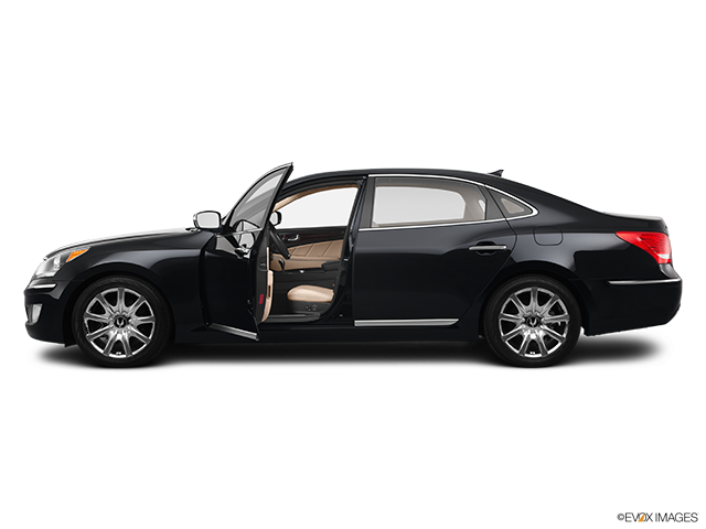 2011 Hyundai Equus Driver's side profile with drivers side door open