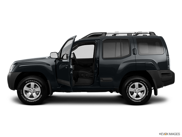 2011 Nissan Xterra Driver's side profile with drivers side door open