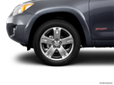 2011 Toyota RAV4 Front Drivers side wheel at profile