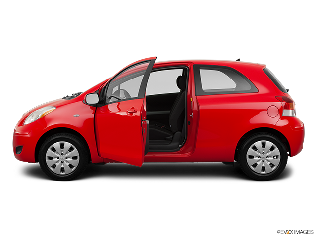 2011 Toyota Yaris Driver's side profile with drivers side door open
