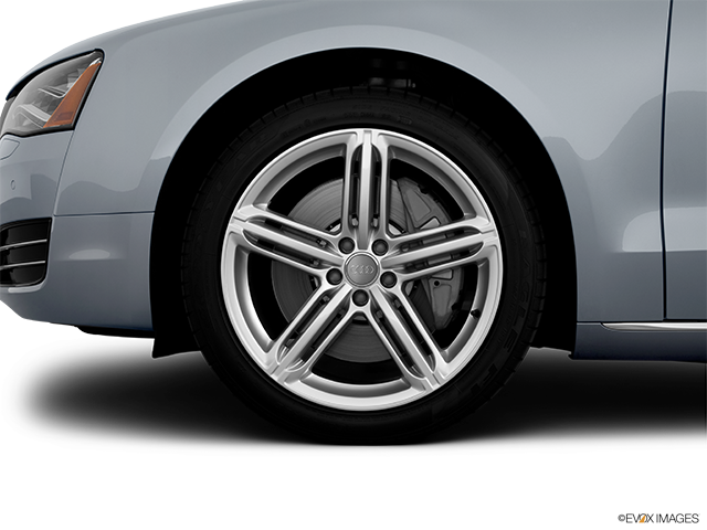 2012 Audi A8 Front Drivers side wheel at profile