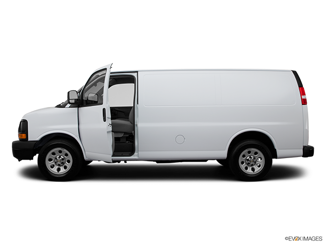 2012 Chevrolet Express Cargo Driver's side profile with drivers side door open