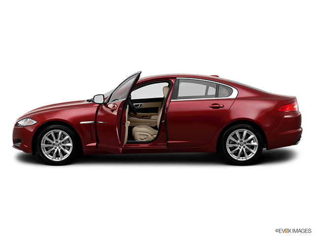 2012 Jaguar XF Driver's side profile with drivers side door open