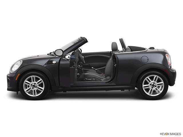 2012 MINI Cooper Roadster Driver's side profile with drivers side door open