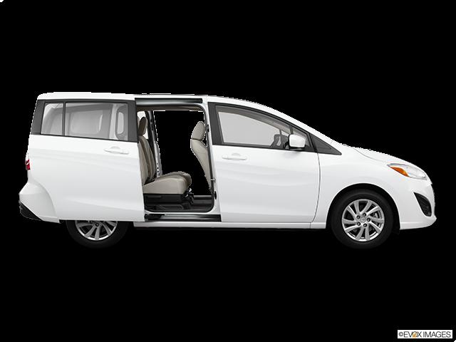 2012 Mazda Mazda5 Passenger's side view, sliding door open (vans only)