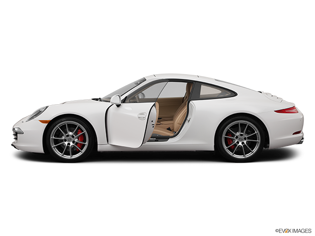 2012 Porsche 911 Driver's side profile with drivers side door open