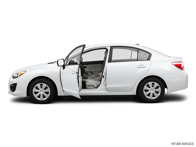 2012 Subaru Impreza Driver's side profile with drivers side door open