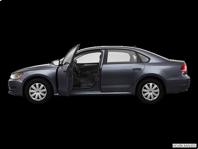 2012 Volkswagen Passat Driver's side profile with drivers side door open
