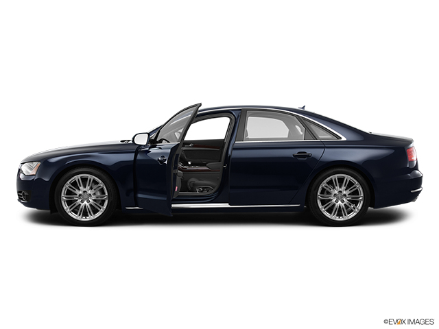 2013 Audi A8 Driver's side profile with drivers side door open