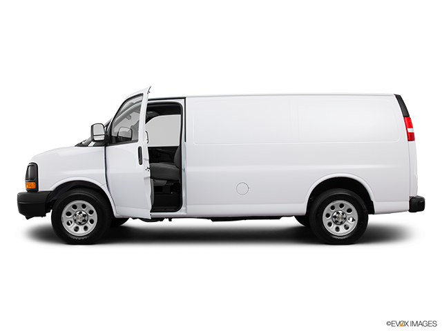 2013 Chevrolet Express Cargo Driver's side profile with drivers side door open