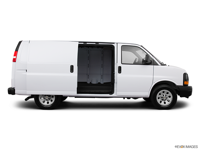 2013 Chevrolet Express Cargo Passenger's side view, sliding door open (vans only)
