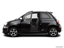 2013 FIAT 500e Driver's side profile with drivers side door open