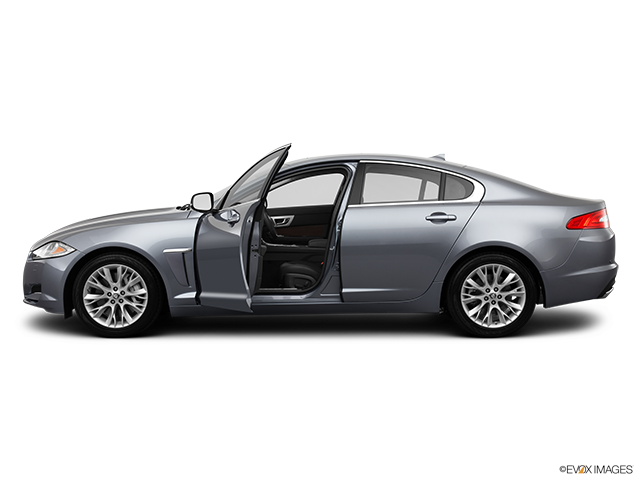 2013 Jaguar XF Driver's side profile with drivers side door open
