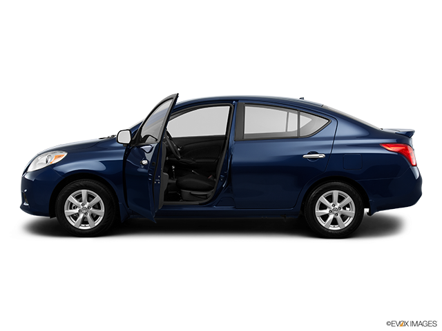 2013 Nissan Versa Driver's side profile with drivers side door open