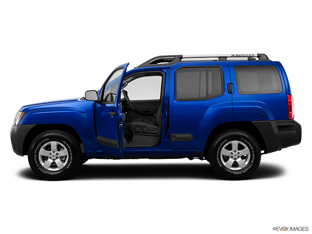 2013 Nissan Xterra Driver's side profile with drivers side door open