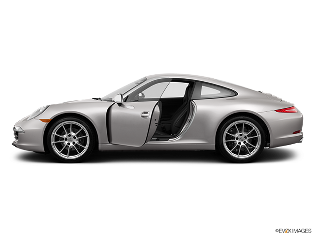 2013 Porsche 911 Driver's side profile with drivers side door open
