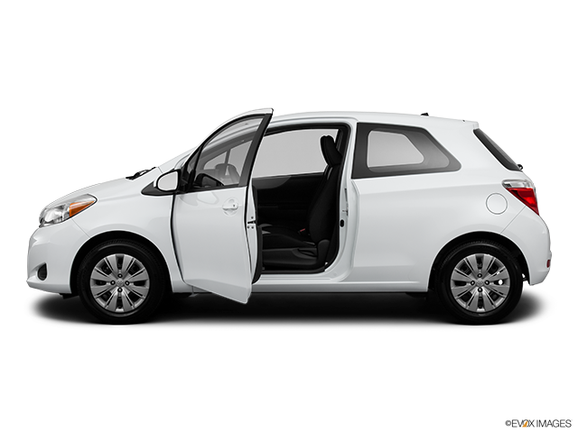 2013 Toyota Yaris Driver's side profile with drivers side door open
