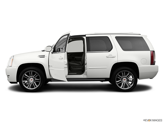 2014 Cadillac Escalade Driver's side profile with drivers side door open