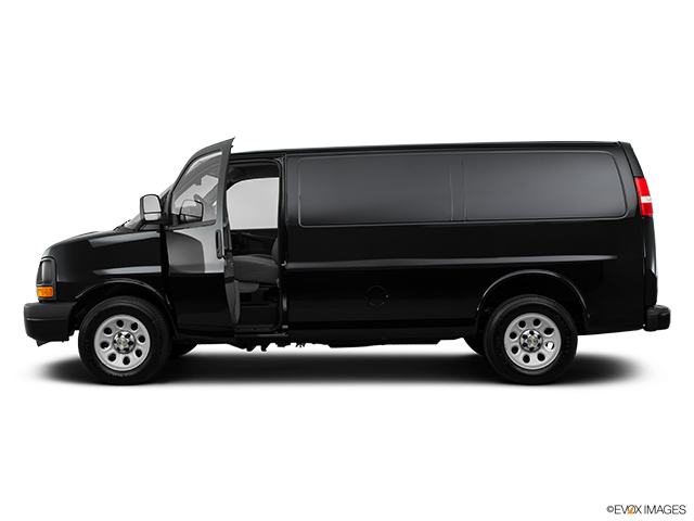 2014 Chevrolet Express Cargo Driver's side profile with drivers side door open