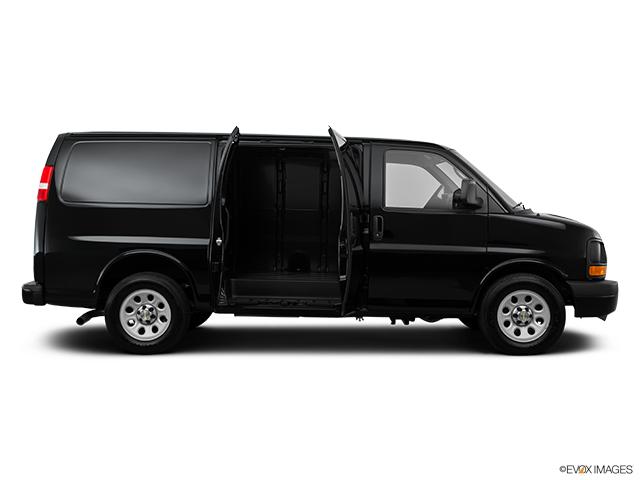 2014 Chevrolet Express Cargo Passenger's side view, sliding door open (vans only)