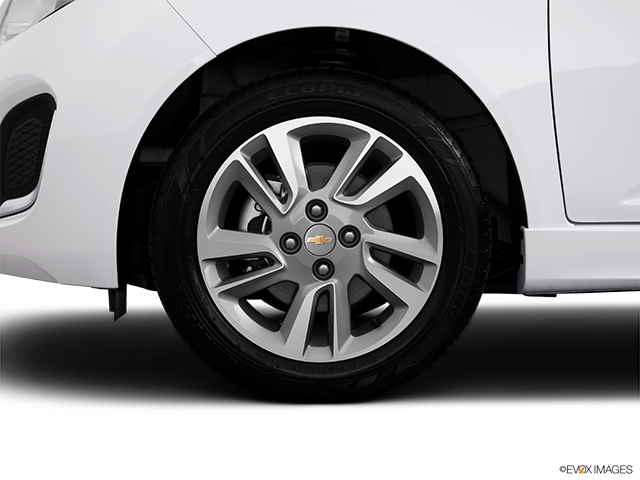 2014 Chevrolet Spark EV Front Drivers side wheel at profile