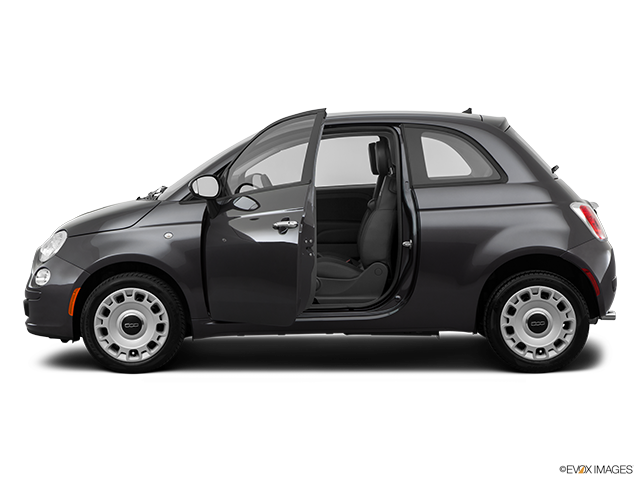 2014 FIAT 500 Driver's side profile with drivers side door open