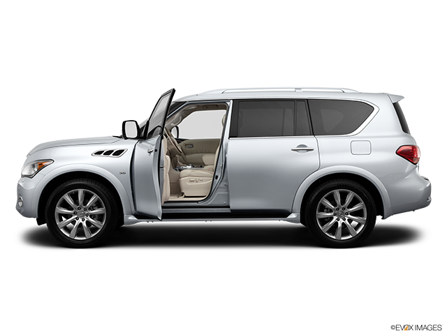 2014 INFINITI QX80 Driver's side profile with drivers side door open
