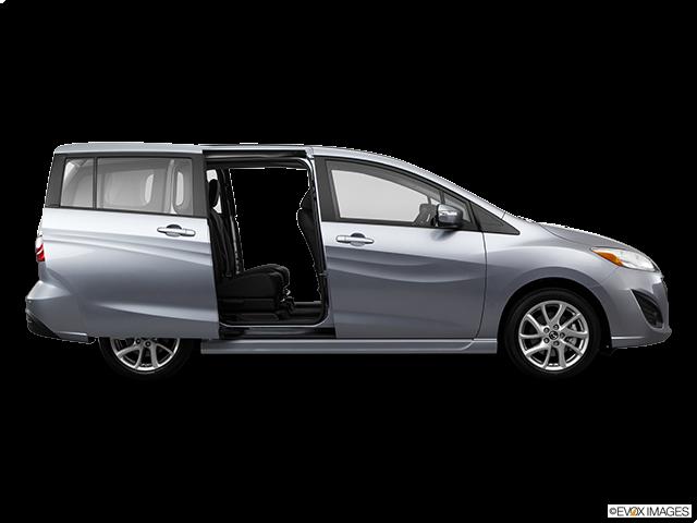 2014 Mazda Mazda5 Passenger's side view, sliding door open (vans only)