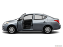 2014 Nissan Versa Driver's side profile with drivers side door open