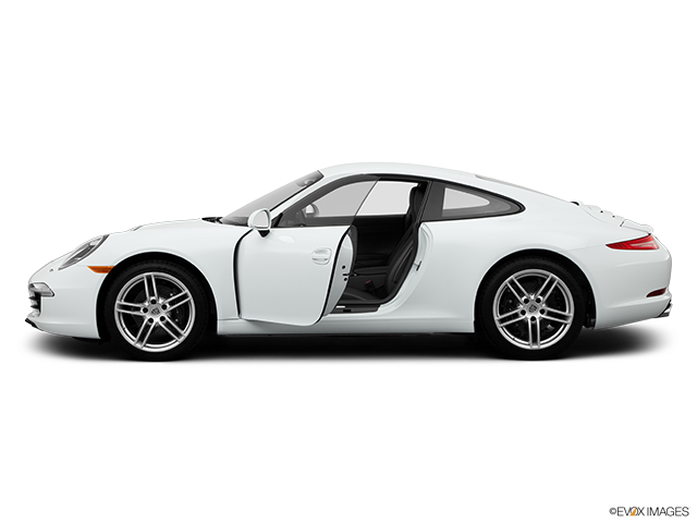 2014 Porsche 911 Driver's side profile with drivers side door open