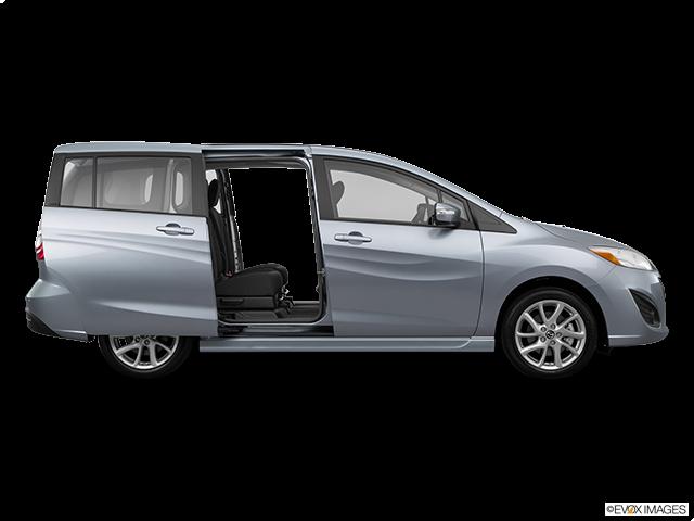 2015 Mazda Mazda5 Passenger's side view, sliding door open (vans only)