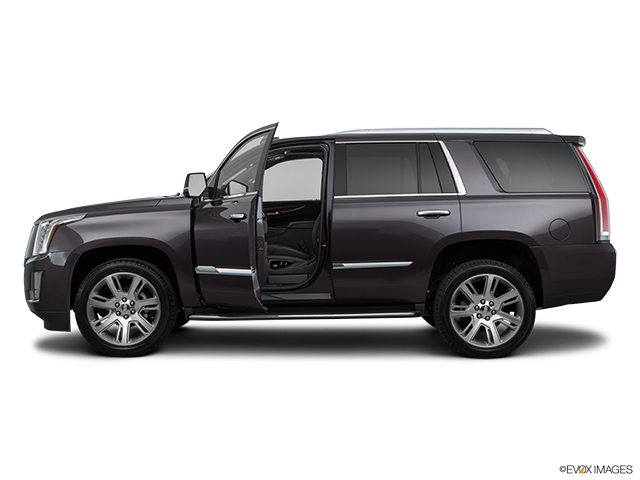 2017 Cadillac Escalade Driver's side profile with drivers side door open