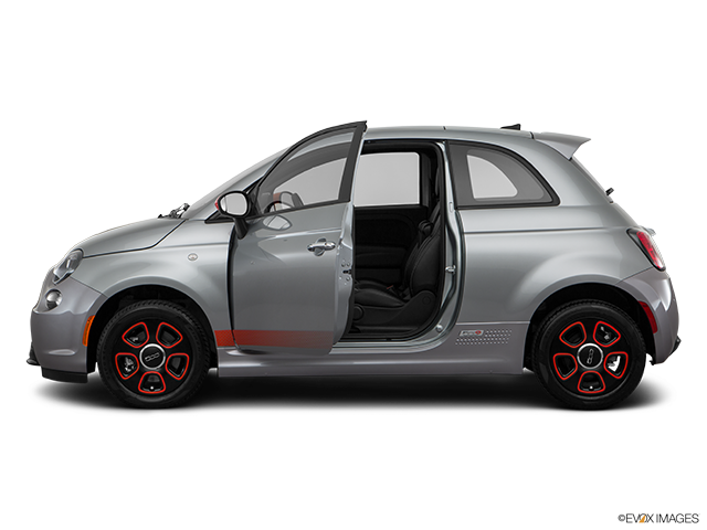 2017 FIAT 500e Driver's side profile with drivers side door open