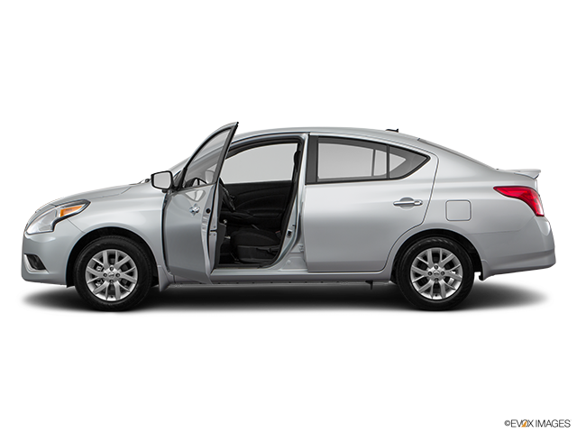 2017 Nissan Versa Driver's side profile with drivers side door open