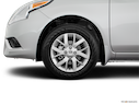 2017 Nissan Versa Front Drivers side wheel at profile