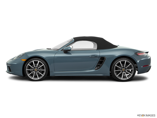 2017 Porsche 718 Boxster Drivers side profile, convertible top up (convertibles only)