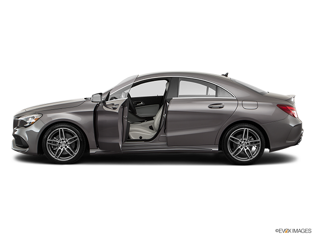 2018 Mercedes-Benz CLA Driver's side profile with drivers side door open