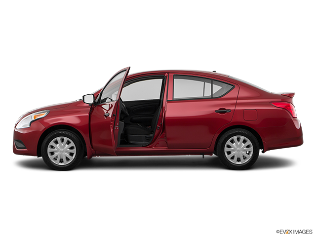 2018 Nissan Versa Driver's side profile with drivers side door open
