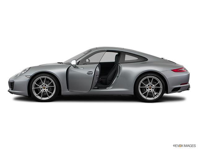 2018 Porsche 911 Driver's side profile with drivers side door open