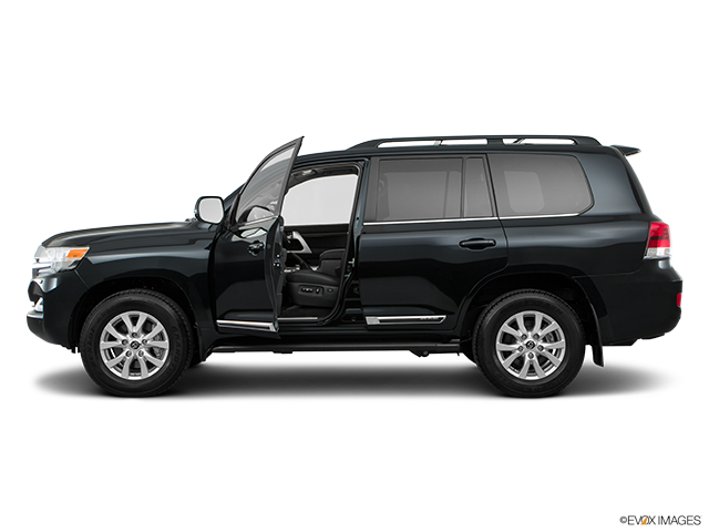 2018 Toyota Land Cruiser Driver's side profile with drivers side door open