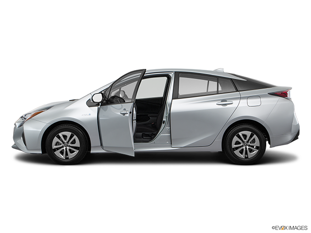 2018 Toyota Prius Driver's side profile with drivers side door open
