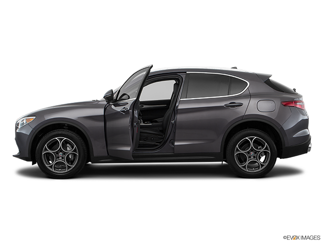 2019 Alfa Romeo Stelvio Driver's side profile with drivers side door open