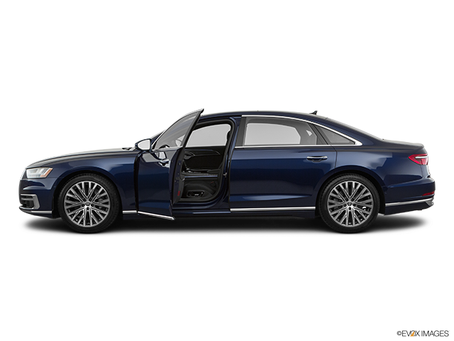 2019 Audi A8 L Driver's side profile with drivers side door open
