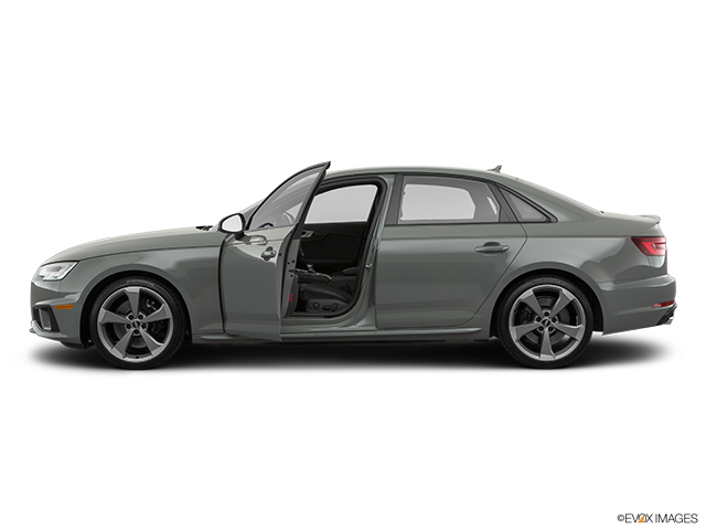 2019 Audi S4 Driver's side profile with drivers side door open