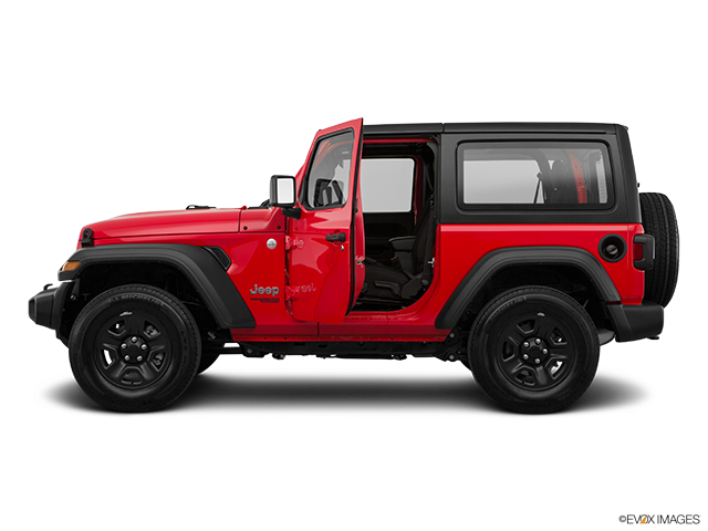 2019 Jeep Wrangler Driver's side profile with drivers side door open
