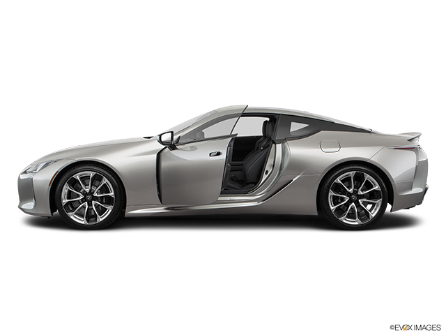 2019 Lexus LC 500 Driver's side profile with drivers side door open