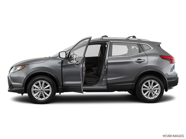 2019 Nissan Rogue Sport Driver's side profile with drivers side door open