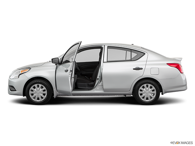 2019 Nissan Versa Driver's side profile with drivers side door open