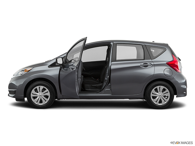 2019 Nissan Versa Note Driver's side profile with drivers side door open