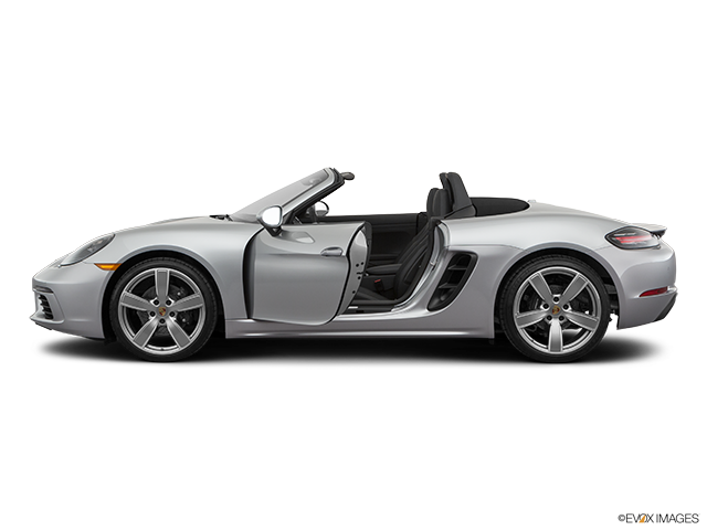 2019 Porsche 718 Boxster Driver's side profile with drivers side door open